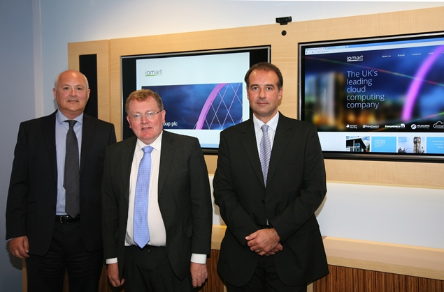 L-R-Bill-Strain-of-iomart-David-Mundell-MP-and-Phil-Worms-of-iomart1
