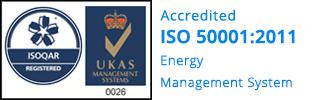 ISO 50001 logo - iomart
